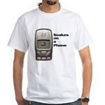 Snakes on a Phone White T-Shirt