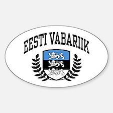 Eesti Vabariik Sticker (Oval)