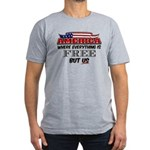 America the Free Men's Fitted T-Shirt (dark)