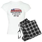 America the Free Women's Light Pajamas