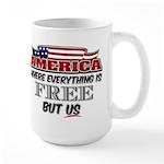 America the Free Large Mug