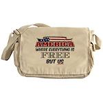 America the Free Messenger Bag
