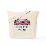 America the Free Tote Bag