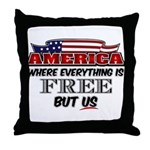 America the Free Throw Pillow