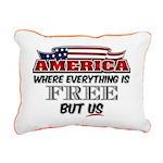 America the Free Rectangular Canvas Pillow