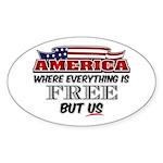 America the Free Sticker (Oval)