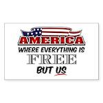 America the Free Sticker (Rectangle)