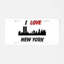 I love NY Aluminum License Plate
