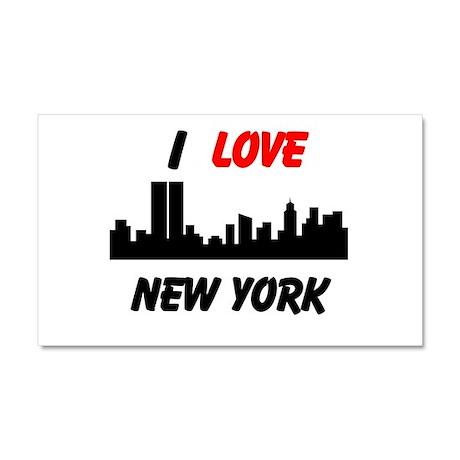 I love NY Car Magnet 20 x 12
