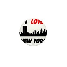 I love NY Mini Button (10 pack)