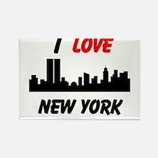 I love NY Rectangle Magnet