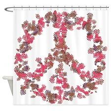 Affection Flower Peace Shower Curtain
