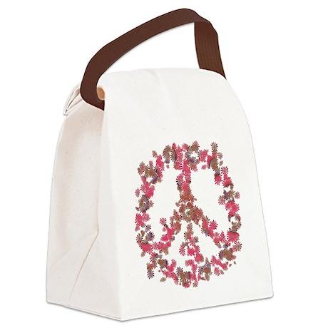 Affection Flower Peace Canvas Lunch Bag