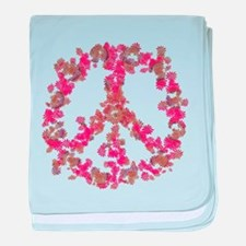 Affection Flower Peace baby blanket