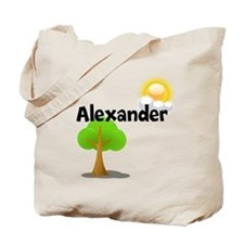 Custom Name Tree Sun Tote Bag
