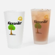 Custom Name Tree Sun Drinking Glass