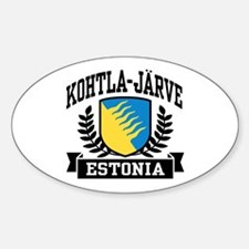 Kohtla Jarve Estonia Sticker (Oval)