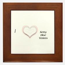 I heart Kerry Blue Terriers Framed Tile