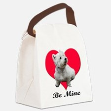 Unique Boston terrier valentine Canvas Lunch Bag