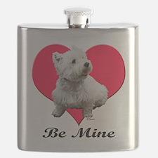 Unique Boston terrier valentine Flask