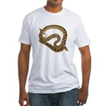 Plane in a Snake Fitted T-Shirt