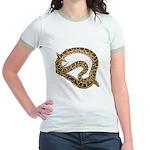 Plane in a Snake Jr. Ringer T-Shirt