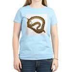 Plane in a Snake Women's Pink T-Shirt