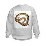 Plane in a Snake Kids Sweatshirt