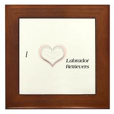 I heart Labrador Retrievers Framed Tile