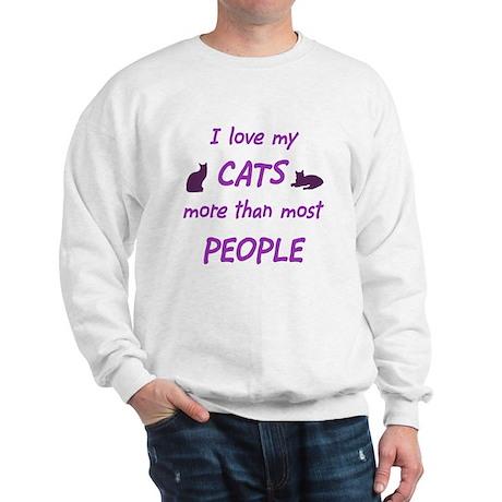 I Love My Cats Sweatshirt