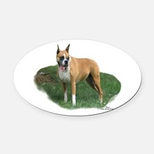 Cassidy the Boxer Oval Car Magnet