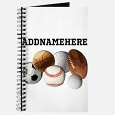 Sports Balls, Custom Name Journal