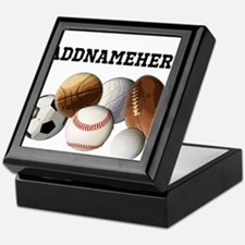 Sports Balls, Custom Name Keepsake Box