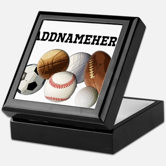 Sports Balls, Custom Name Keepsake Box