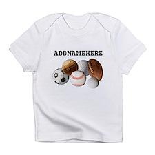 Sports Balls, Custom Name Infant T-Shirt
