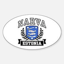Narva Estonia Sticker (Oval)