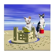 Devon Sandcastle Tile Coaster
