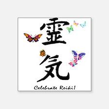 "Celebrate Reiki Square Sticker 3"" x 3"""