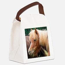 Classic Mini Horse Portrait Canvas Lunch Bag