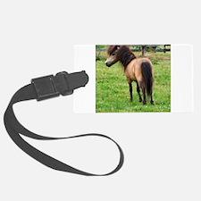 Miniature Horse Buckin Velvet Luggage Tag
