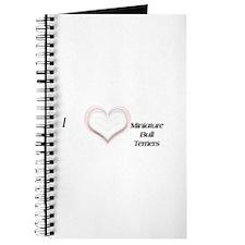 I heart Miniature Bull Terriers Journal