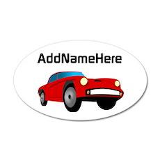 Sports Car, Custom Name Decal Wall Sticker