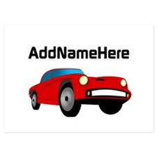 Sports Car, Custom Name 5x7 Flat Cards