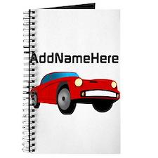 Sports Car, Custom Name Journal