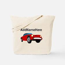 Sports Car, Custom Name Tote Bag