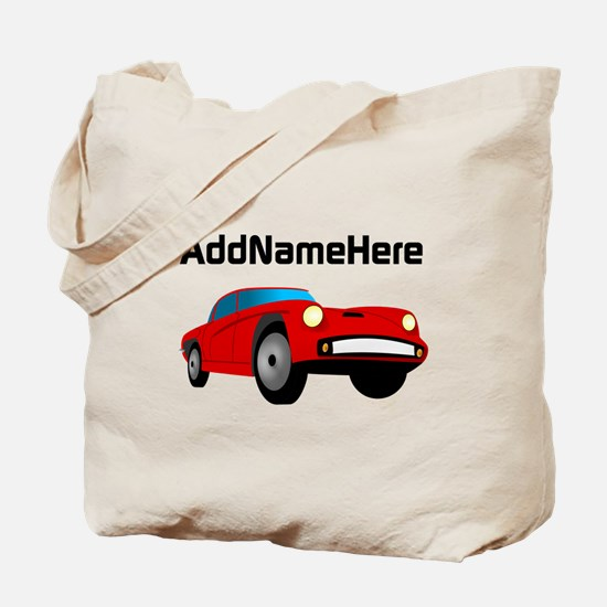 Sports Car, Custom Name Tote Bag