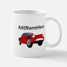 Sports Car, Custom Name Mug