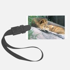 lionssideviewframedsm.png Luggage Tag