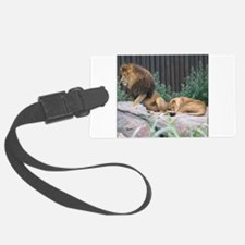 Lion Stretching Luggage Tag