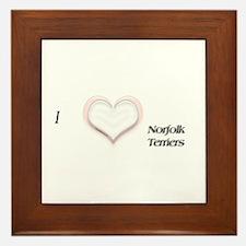 I heart Norfolk Terriers Framed Tile